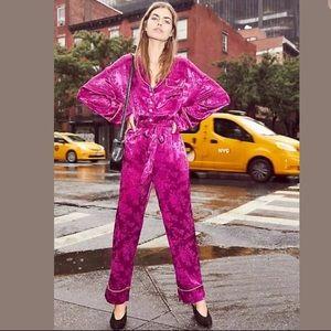 Free People So So Chic Pajama PJ Jumpsuit XS
